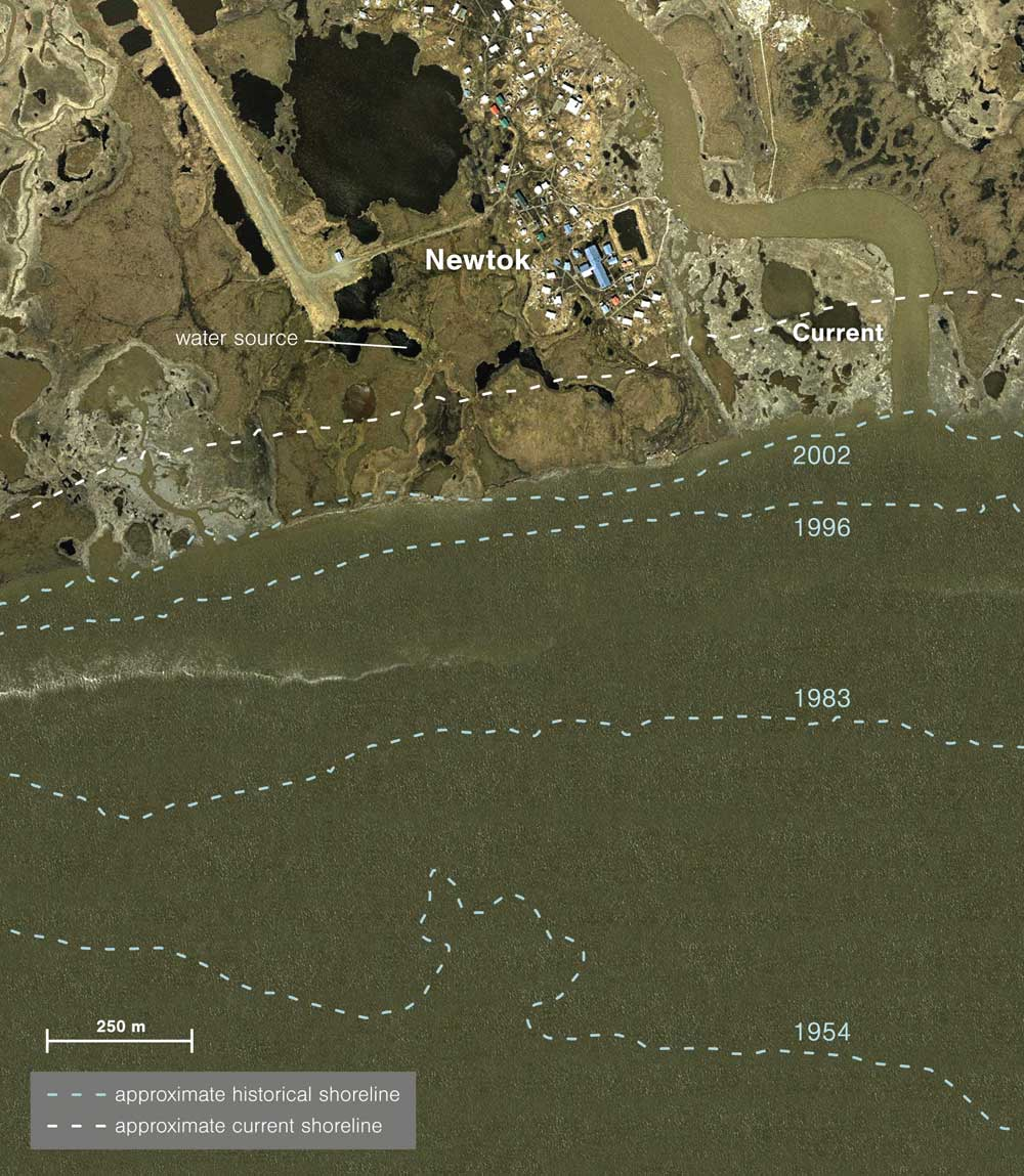 shoreline map newtok
